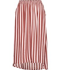 kacandy skirt knälång kjol röd kaffe