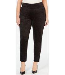 seven7 jeans plus size faux-suede leggings