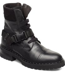 fawcett shoes boots ankle boots ankle boots flat heel svart notabene