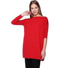 sukienka-tunika kwadrat czerwona