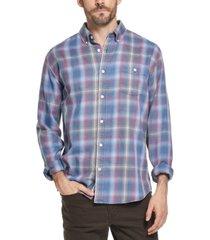weatherproof vintage men's button-down plaid shirt