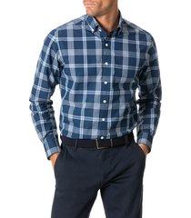men's rodd & gunn allaman check button-down shirt, size xxx-large - blue