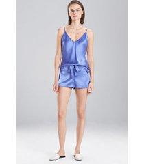 key essentials cami pajamas, women's, brown, 100% silk, size m, josie natori