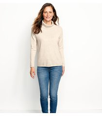 natural cashmere cowlneck sweater