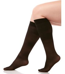 light control graduated compression sheer trouser socks