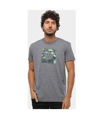 camiseta hang loose silk logoarmy camuflagem masculina