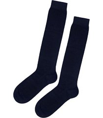 calzedonia tall warm cotton socks man blue size 46-47