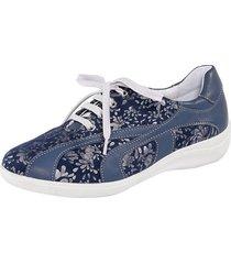 blommiga skor naturläufer blå
