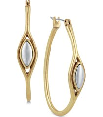 "lucky brand two-tone 1-1/2"" hoop earrings"