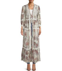 free people women's printed robe - mint combo - size xs/s
