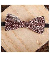 cotton bow tie, 'dapper peach' (mexico)