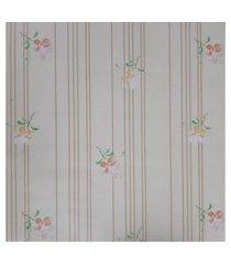 kit 2 rolos de papel de parede fwb floral amarelo e laranja