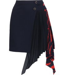 givenchy pleated godet mini skirt - blue