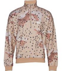 jeremy turtleneck camo/leo pri sweat-shirt tröja brun martin asbjørn