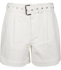 michael kors pleated belted dnm shorts