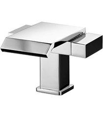 misturador monobloco de mesa para lavatório bica cascata lorenquadra plus cromado