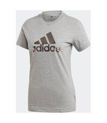t shirt masculina malha adidas logo gi4769 mescla m