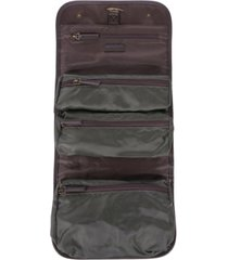barbour men's waxed hanging toiletry bag
