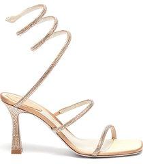 cleo strass coil anklet satin sandals