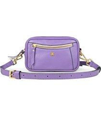 pochete balaia due em couro lilas