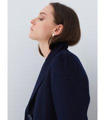 motivi cappotto lungo in panno donna blu