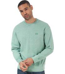 mens authentic logo crew sweatshirt