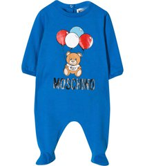 moschino blue romper with central press