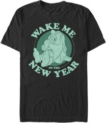 fifth sun men's sleepy new year short sleeve crew t-shirt