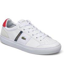 courtline 07211 låga sneakers röd lacoste shoes