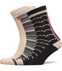 decoy ankle sock orgcotton 3pk lingerie socks regular socks multi/mönstrad decoy