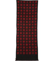 alexander mcqueen scarf with jacquard pattern