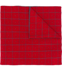 a-cold-wall* cut-out scarf cape - red