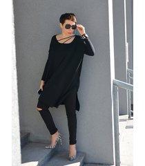 tunika oversize black