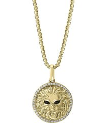 effy men's 14k yellow gold & diamond pendant necklace