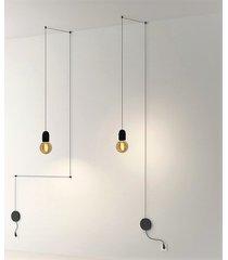 lampa wisząca cable black