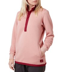 women's helly hansen lillo waterproof pullover, size large - coral