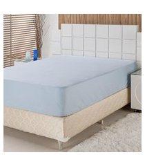 lençol de baixo casal plumasul percal 230 fios 140x190cm azul