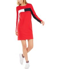 tommy hilfiger colorblocked logo dress