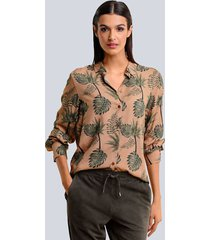blouse alba moda karamel::kaki