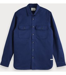 scotch & soda clean overhemd | regular fit