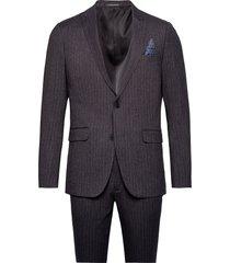 pin striped suit kostym grå lindbergh