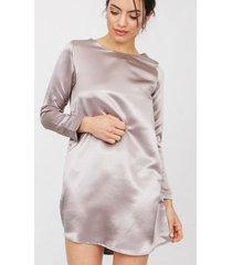 vestido plateado gold natalia platinum