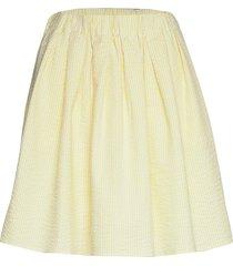 taesja stripe skirt kort kjol gul holzweiler