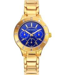 reloj  dorado mark maddox mujer