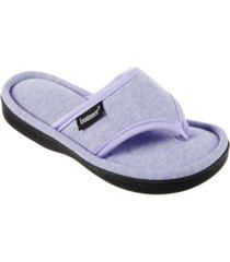 isotoner signature women's heathered campbell knit thong slippers