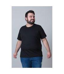 camiseta básica masculina plus size preto camiseta básica masculina plus size preto gg kaue plus size