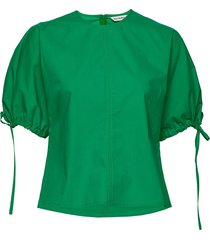 heltyä solid shirt blouses short-sleeved groen marimekko
