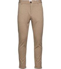 superflex knitted cropped pant kostymbyxor formella byxor beige lindbergh