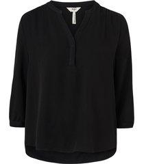 blus objbaya 3/4 v-neck blouse