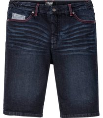 bermuda in jeans elasticizzato con taglio comfort regular fit (blu) - bpc bonprix collection